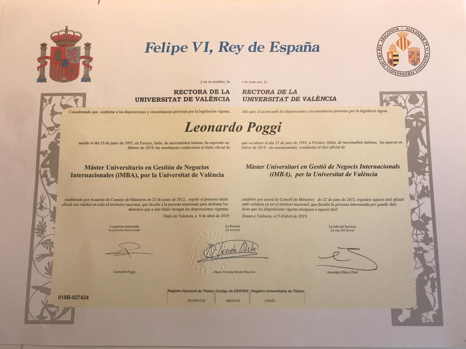 Diploma MBA Valencia